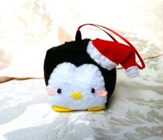Tuxedo Penguin Christmas Ornament by PinkChocolate14