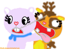 chibi chan the bear and salsa the deer HTF styles by irfandy-simpson