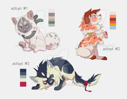 puppies adoptable 2  CLOSED by azzai