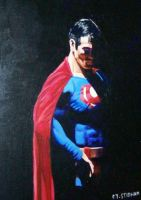 Superman after a long day by karenstidham