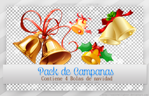 Pack de Campanas Png ~*~ by yssietwilighter