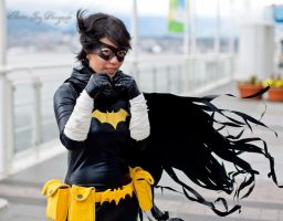 Cassandra Cain/Black Bat by altairbot