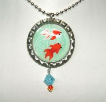 Koi bottle cap pendant by inchworm