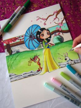 Mulan Drawing by LeFay00