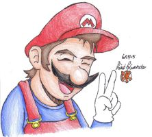 Anime Mario by DairyKing