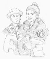 Seventh Doctor and Ace by infiniteviking