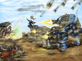 Tyranids vs Spacemarines by DarkLostSoul86