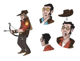Team Fortress 2 sketches 3 by JakeHarold