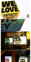 """We Love Artists' Alley"" Walls by endosage"