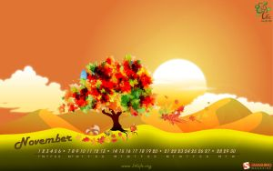 34Life Calendar for November 2011 - HD by Zamolxes
