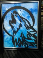 Tribal Wolf Picture Frame by LeonPiersLover