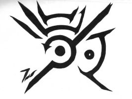 Dishonored Hand Symbol-Black and white version by dragonlover11