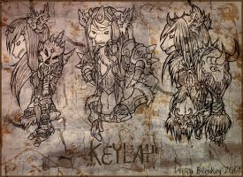 Keylah Sketches by feedapollyon