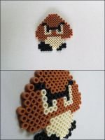 Super Mario Bros. Goomba bead sprite by 8bitcraft