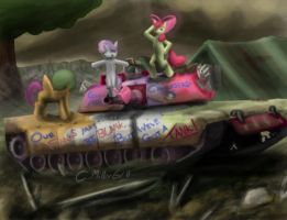 CMC in an M1A2 Abrams by TatterTailArt