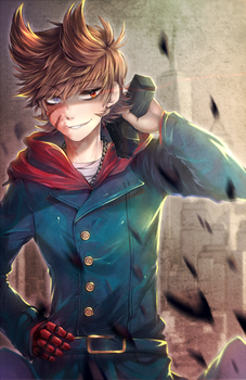 .:Fanart:. Eddsworld - Don't Mess With Me by RimaPichi