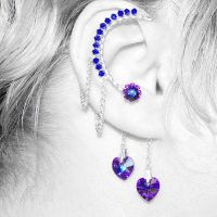 Iridescent Heliotrope Ear Wrap v5- SOLD by YouniquelyChic