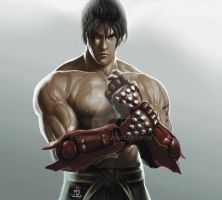 JIN KAZAMA (DIGITAL PAINTING) by EzaRock