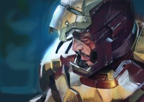 ironman drawing by chanwaikian