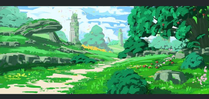 Speed painting greenery by Rbz-art