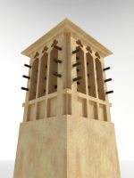 Wind Tower  3D by Digital-Saint