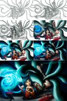 Ahri, the Nine Tailed Fox - step by step by GonzaloCumini