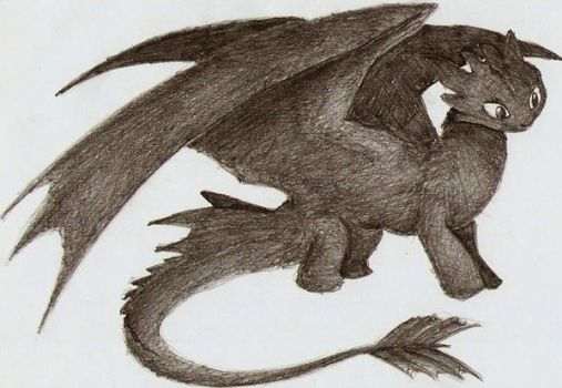 Toothless sketch by AtraVerum