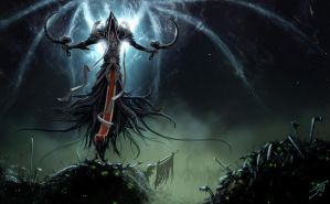 Malthael vs the undead by supermoto77