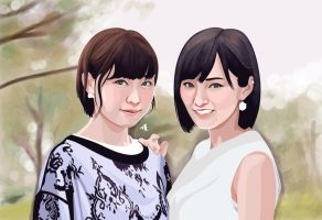Milky and Sayanee by Agamnn17