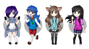 Practice new chibis by Lushiko