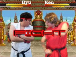 Ryu vs Ken...a brotherly brawl by matador-ninjaLover