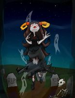 Graveyard girl by LeijonNepeta