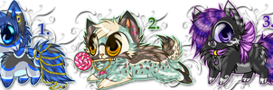 Colorful Kittens [Offer to adopt] [CLOSED] by Sziani