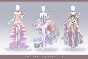 (CLOSED) Adoptable Outfit Auction 110 -112 by Risoluce