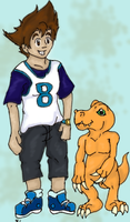Digi: Yagami and Agumon by yammyqueen