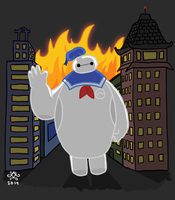 Stay Safe Marshmallow Man by GoWaterTribe