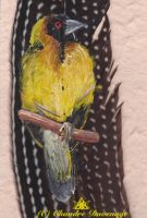 Masked Weaver Detail by FireWolfWitch