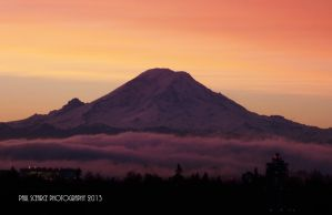Sunrise and Mt. Rainer #2 by SilentMobster42