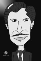 Vincent Price -monochrome- by Cartoon-Eric