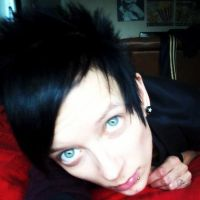 blue eyes and black hair by Mrs-Prince