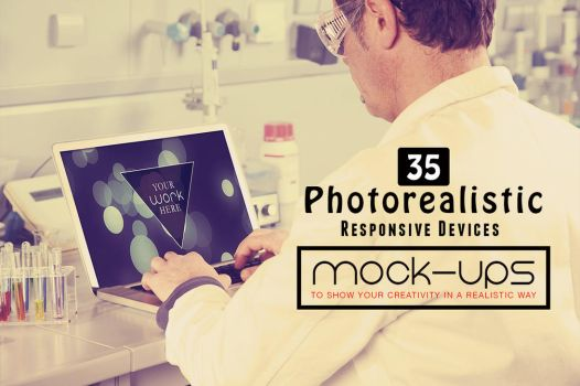 Free PSD Photorealistic Responsive Devices Mock-Up by AestheticArtz