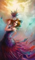 Peacock Girl by Jennyeight