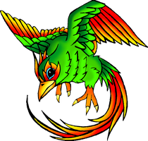 Exotic Bird of Flames by InfinityFangX