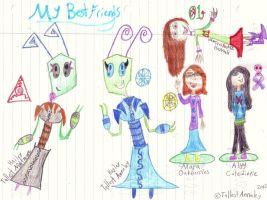 My Best Friends Online and Off! (Colored) by Annaley