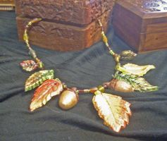 Autumn necklace by purplerhino