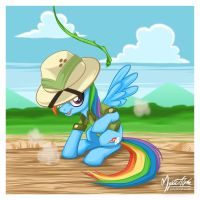 Rainbow Dash as Daring Do by mysticalpha