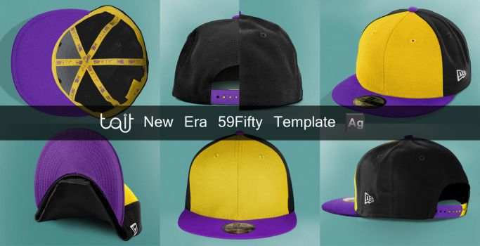 New Era 59 Fifty Template by TheApparelGuy