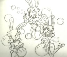 Bunnies and Bubbles by SuperGon-64