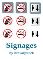 Signages by brownystock