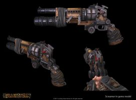 G and M weapon armory screamer revolver + flaregun by h311Man